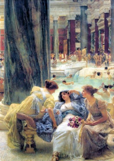 Alma-Tadema, Sir Lawrence: The Baths at Caracalla. Fine Art Print/Poster. Sizes: A4/A3/A2/A1 (003803)